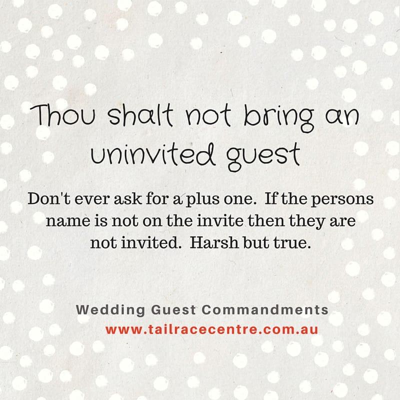 10 Wedding Guest Commandments